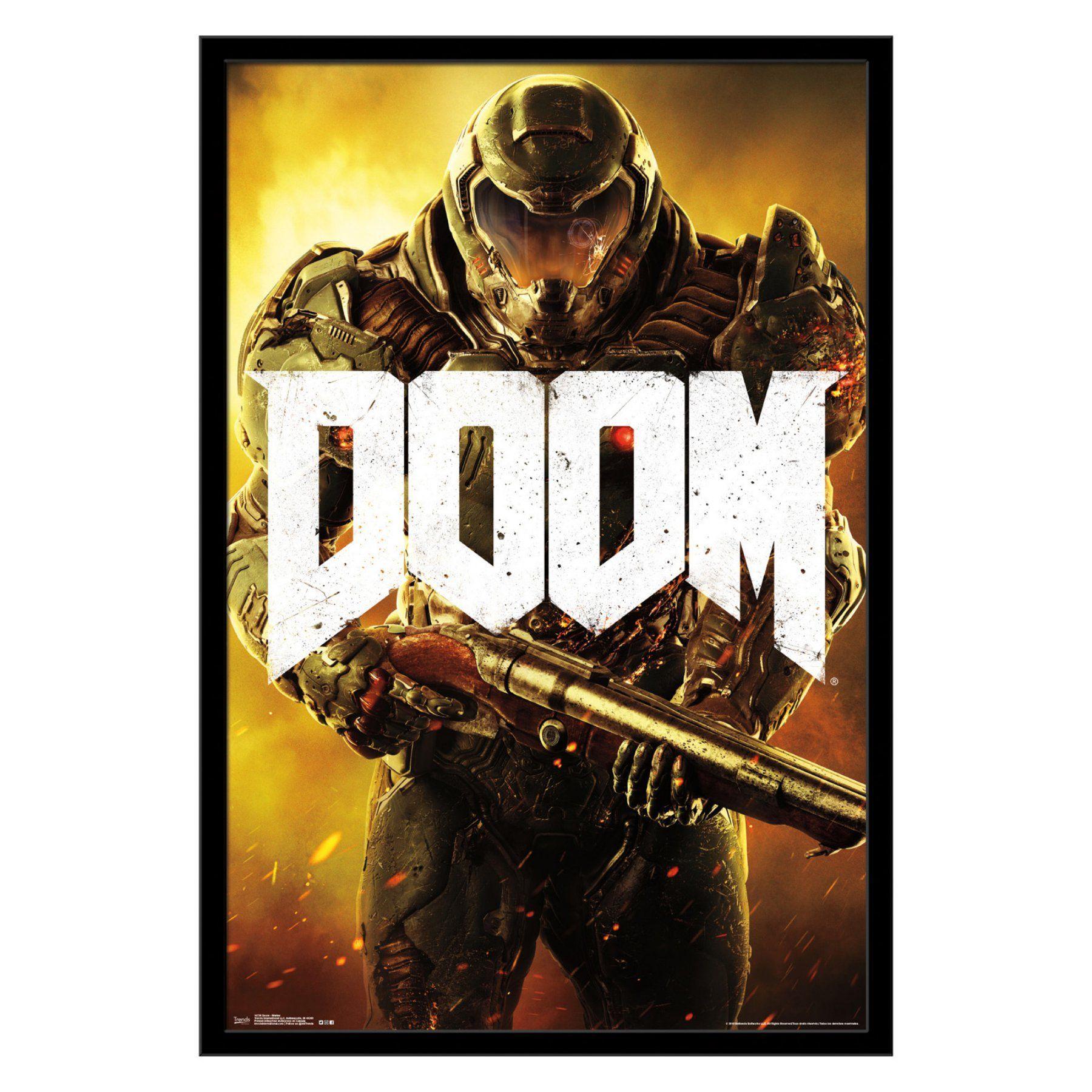 Trends International Doom Marine Framed Wall Poster