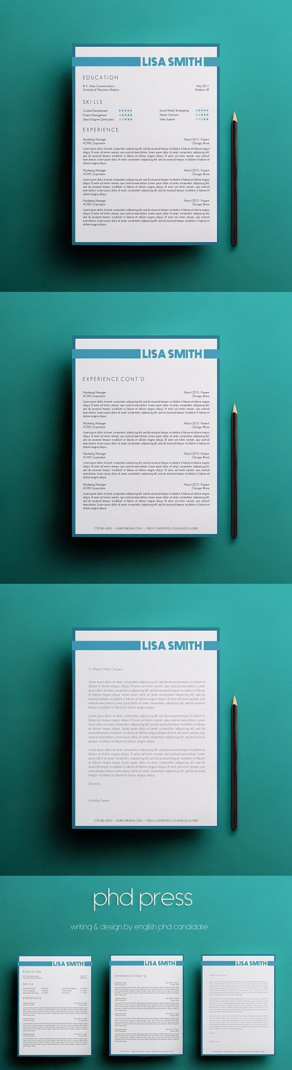 Resume  Cover Letter Template Website Templates  Website