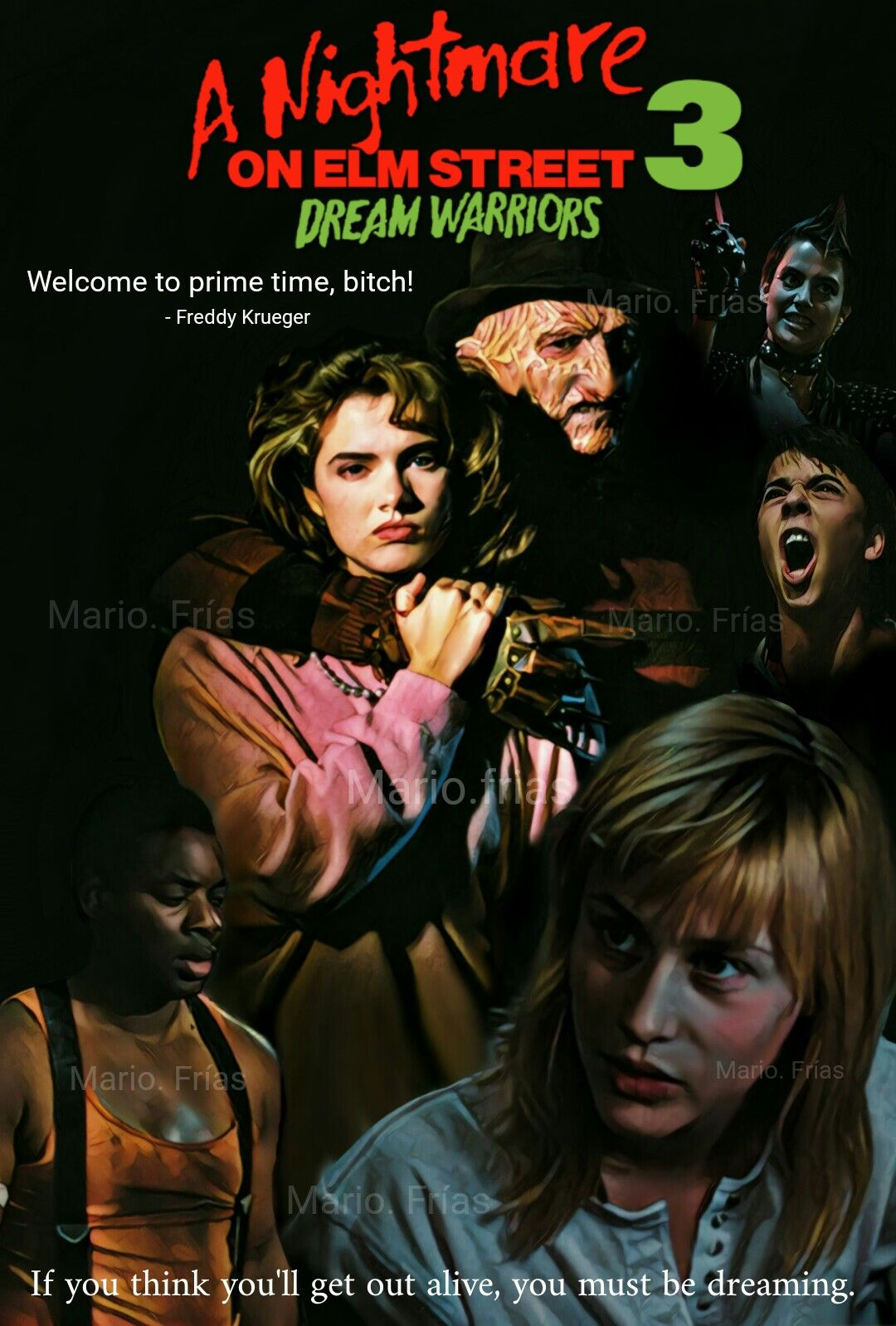 A Nightmare On Elm Street 3 Dream Warriors 1987 Horror Movle Edit
