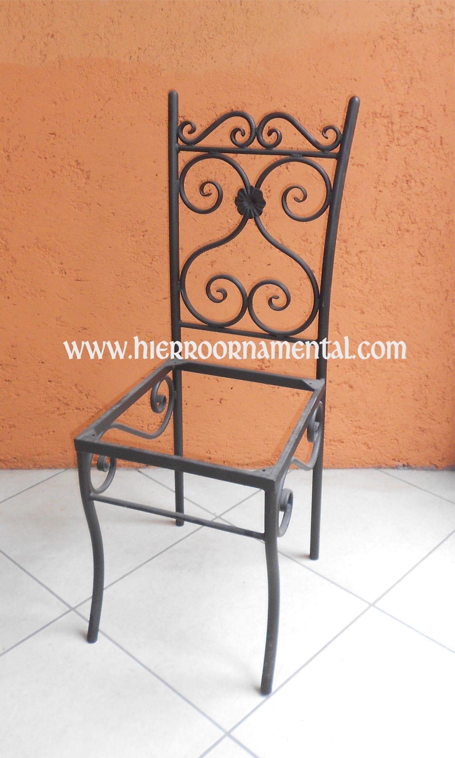Silla detalle producto herrer a y madera pinterest for Sillas para jardin de herreria