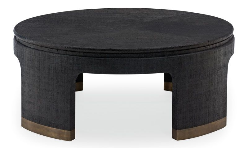 Painted Black Raffia Coffee Table Gorgeous Furniture Mobel
