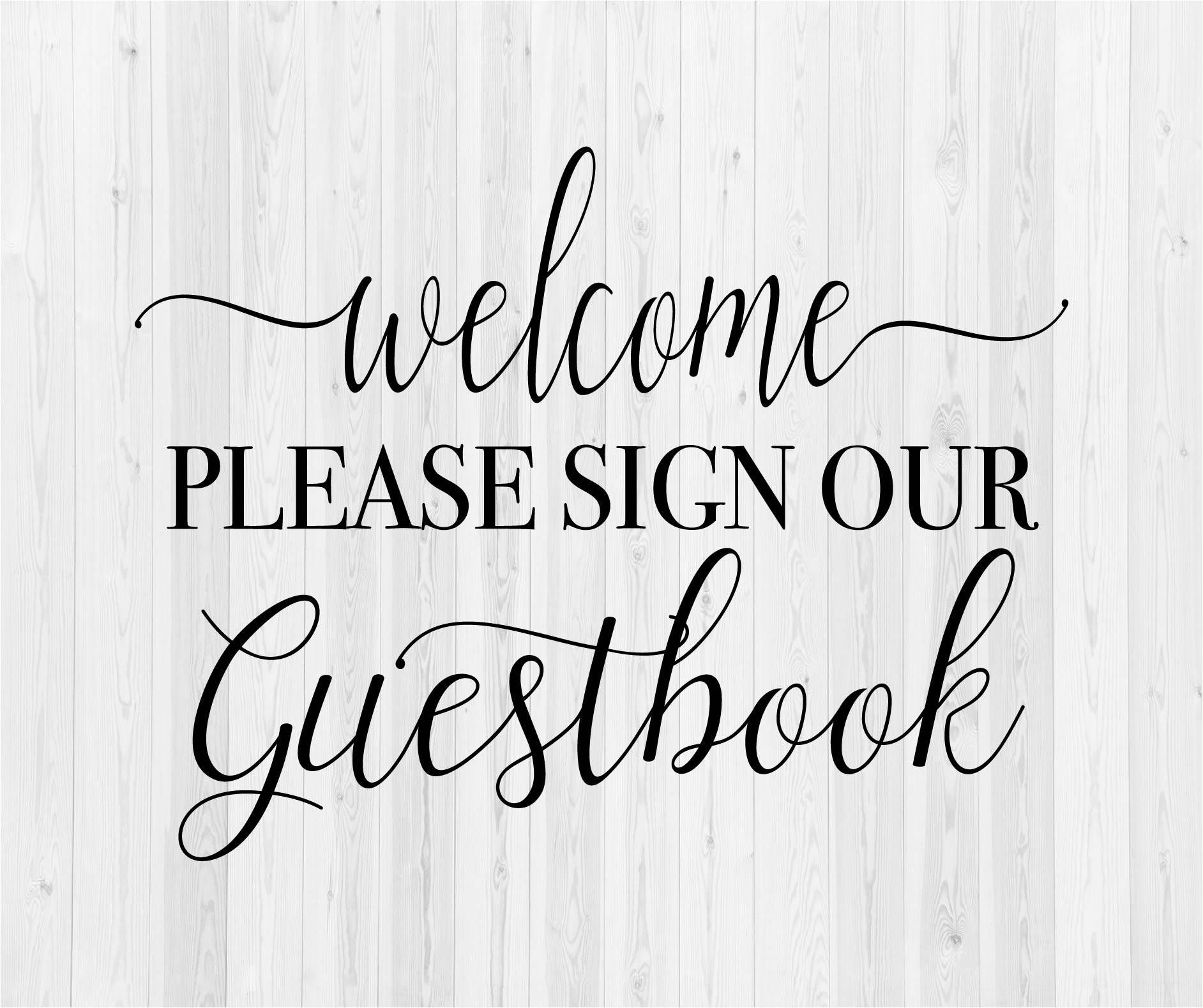 Pin On Cameo Please sign our guestbook template free