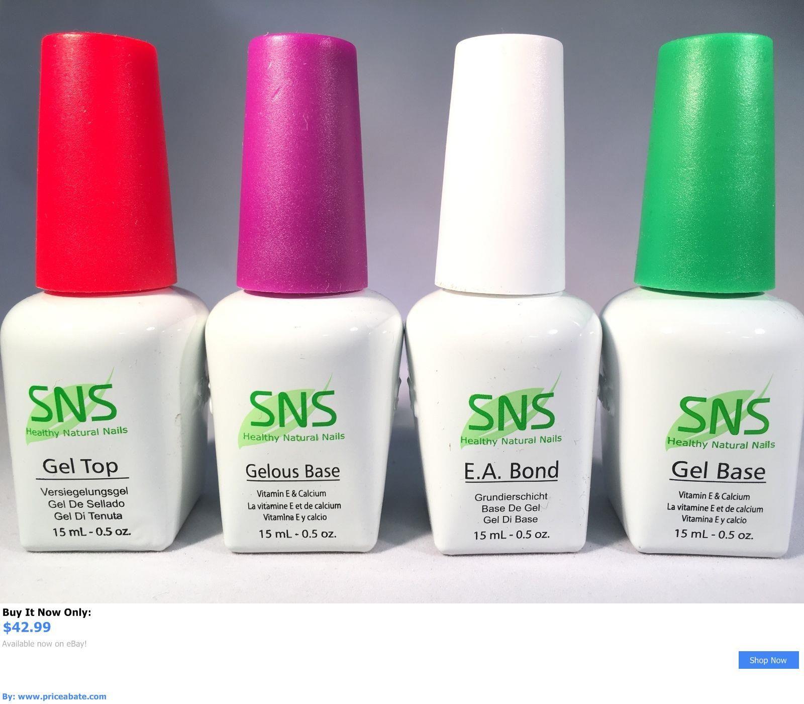 Nails: Sns Nails Dipping Powder Gel Base, Top, Sealer Dry, Ea Bond ...