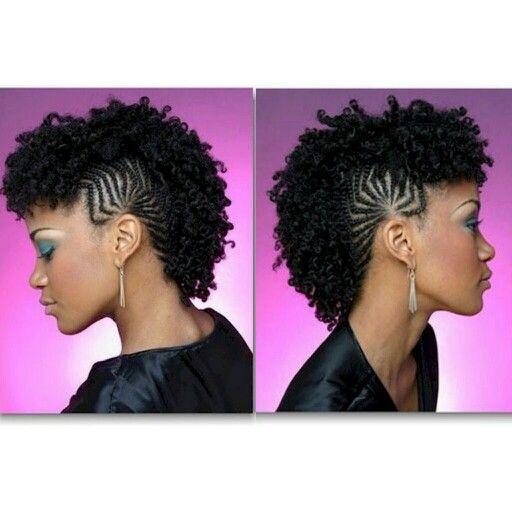 Braided Mohawk Hair Twist Styles Natural Hair Braids Natural Hair Mohawk