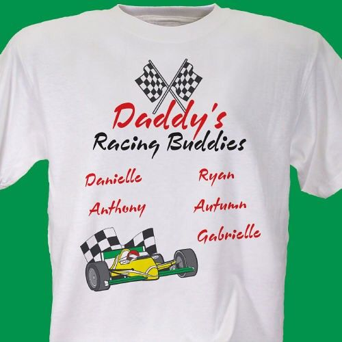 nascar racing buddies personalized race fan t shirts our. Black Bedroom Furniture Sets. Home Design Ideas