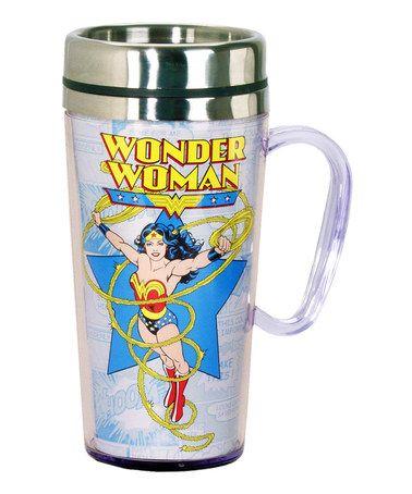 Love this Wonder Woman Insulated Travel Mug by Wonder Woman on #zulily! #zulilyfinds