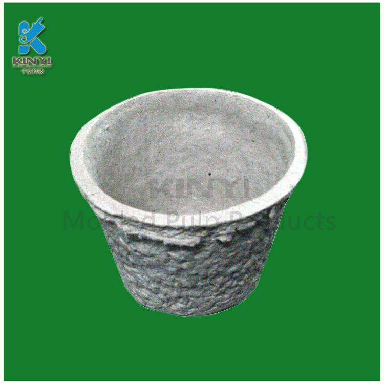 Waterproof Recycled Plant Pulp Flower Seeding Pots Flower Pots
