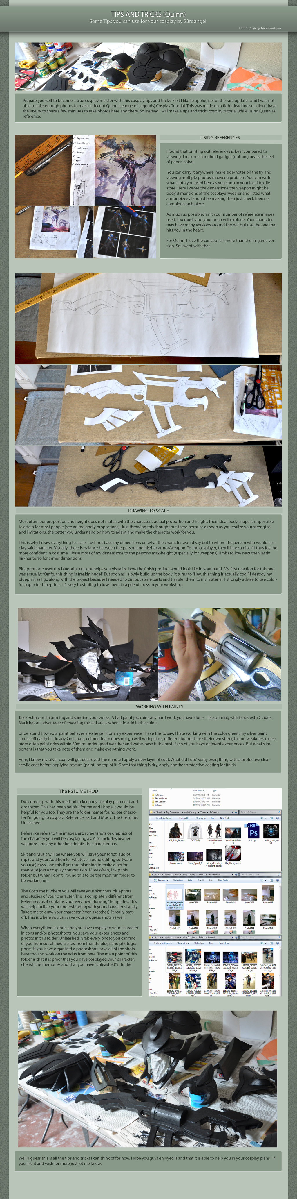 Tips And Tricks A Cosplay Tutorial By 23rdangel Cosplay Tutorials