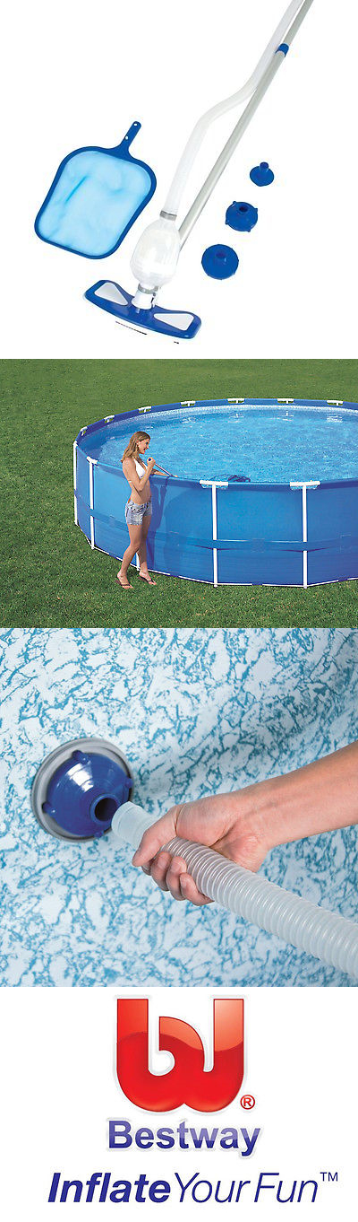 Pool Cleaners and Vacuums 181063: Bestway Above Ground Pool Cleaning And  Maintenance Accessories Set Kit