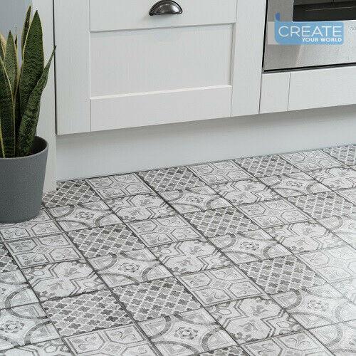 D C Floor Self Adhesive Vinyl Floor Tiles Moroccan Grey Pack Of 11 Tiles 1sqm Ebay Tile Floor Vinyl Flooring Vinyl Flooring Kitchen Self adhesive vinyl wall tiles
