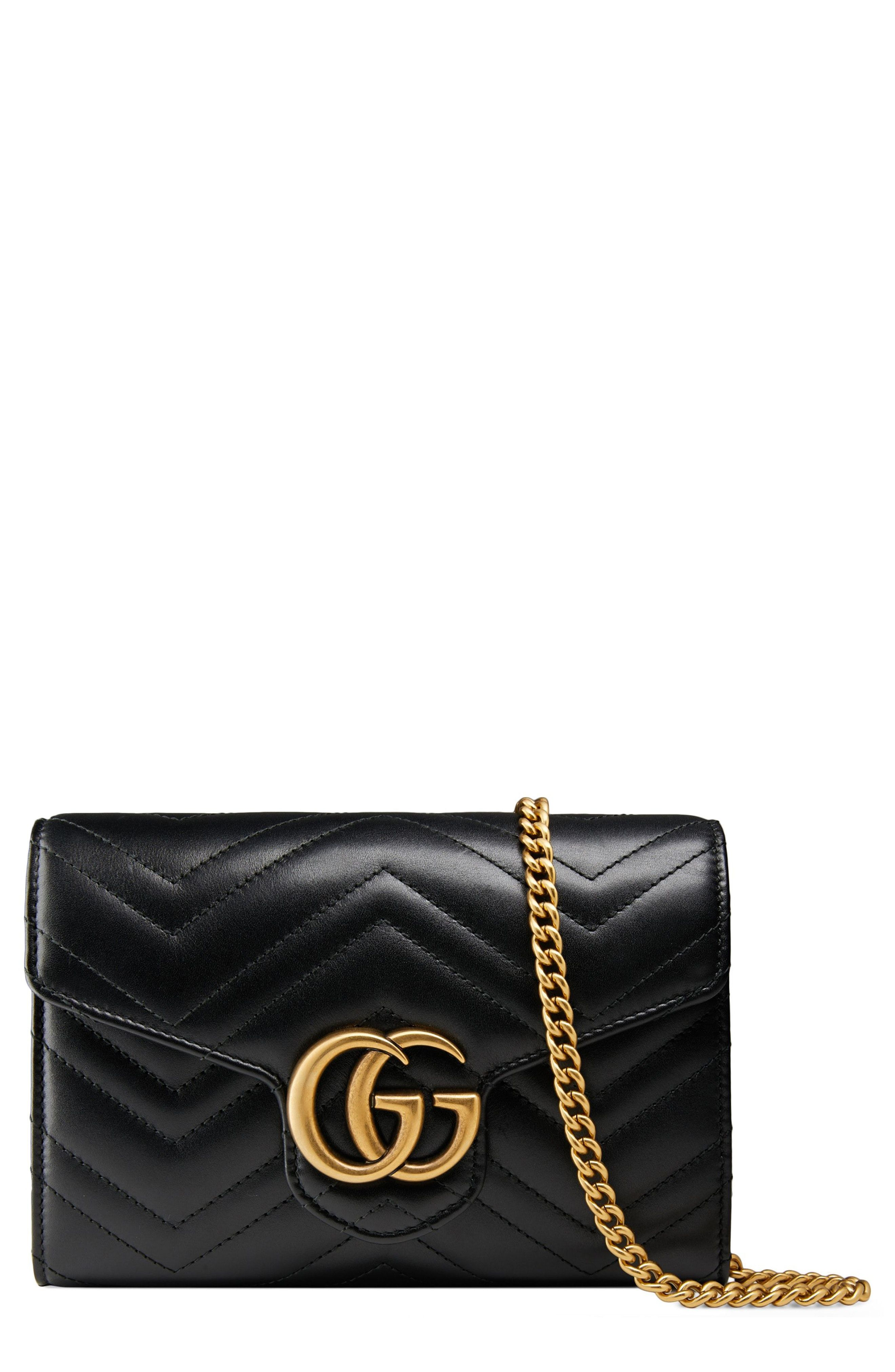 d4e4b639bec New Gucci GG Marmont Matelass  Leather Wallet on a Chain fashion online.    1400   shop.seehandbags