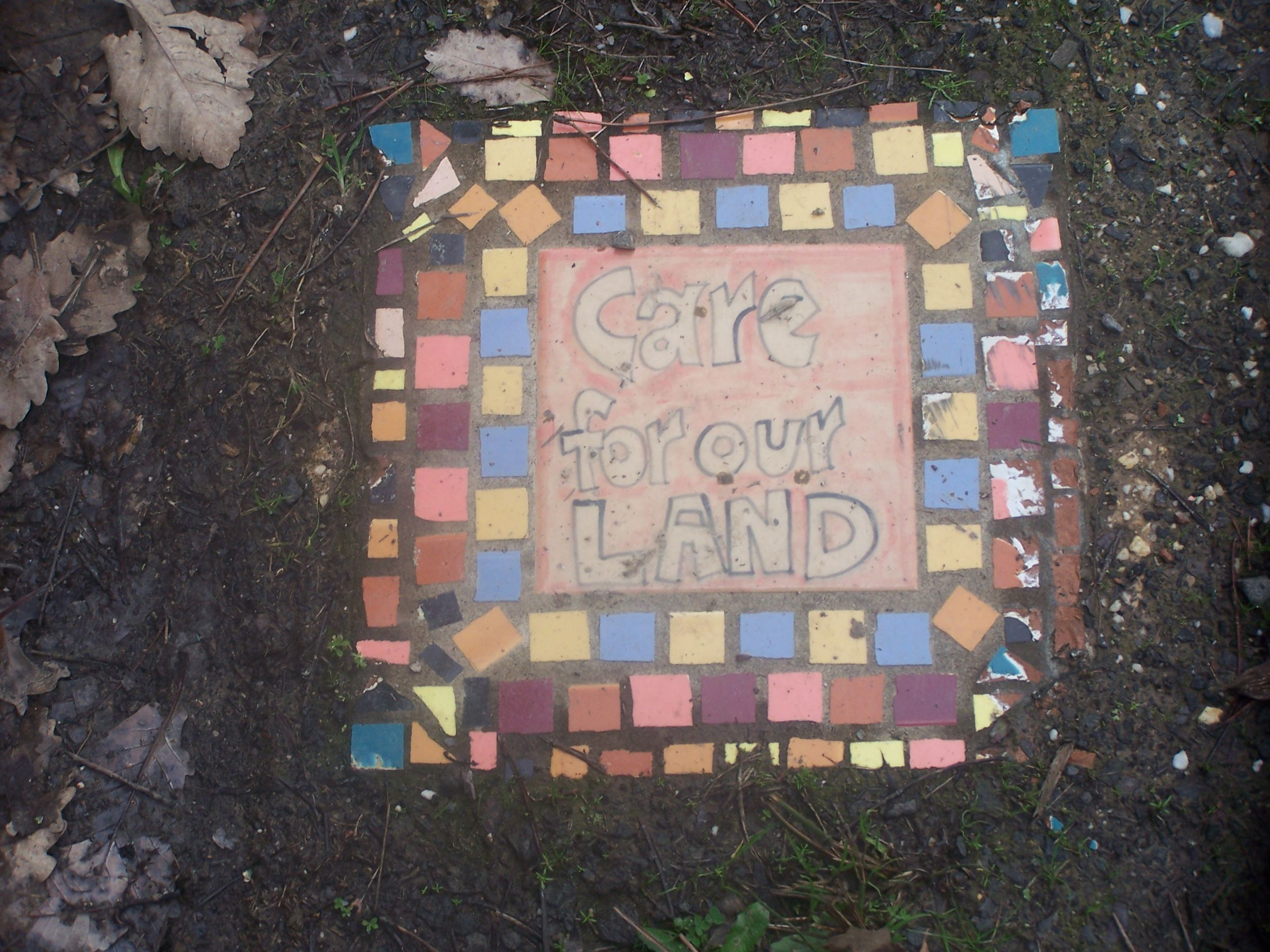 This is a ceramic tile made and decorated by children for the this is a ceramic tile made and decorated by children for the landcare trail at creswick dailygadgetfo Choice Image