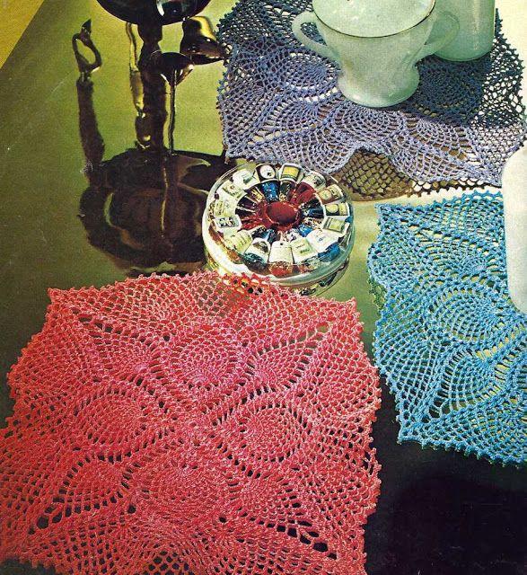 Patrón #1034: Juego de Tapetes a Crochet | CTejidas [Crochet y Dos ...