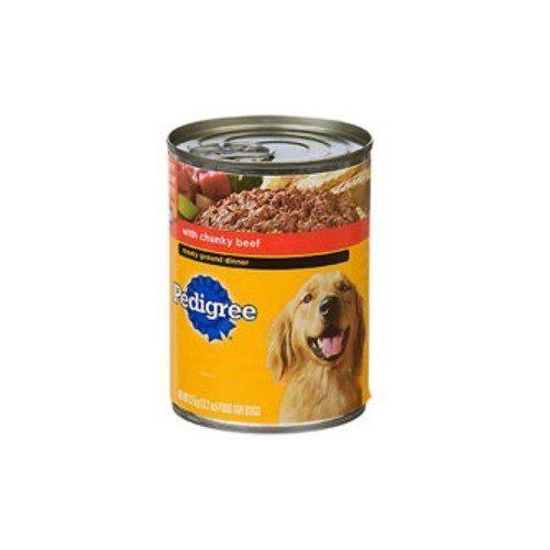 Pedigree Meaty Ground Dinner With Chunky Beef Dog Food 13 2 Oz
