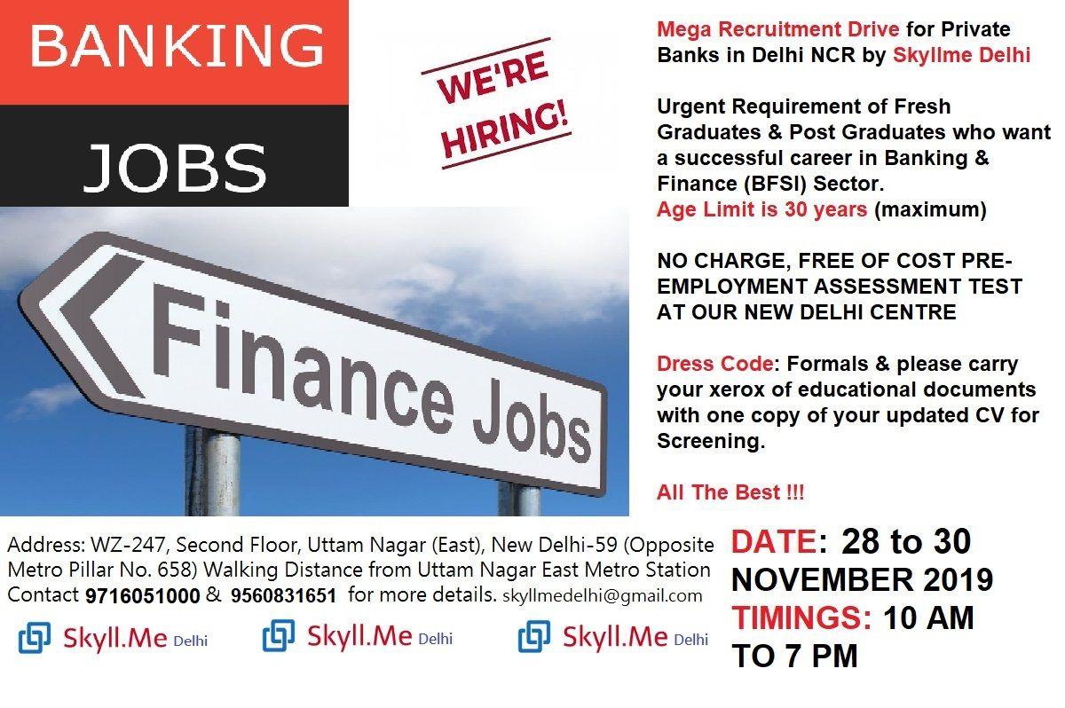 Mega Recruitment Drive on 2830 November 2019 Job