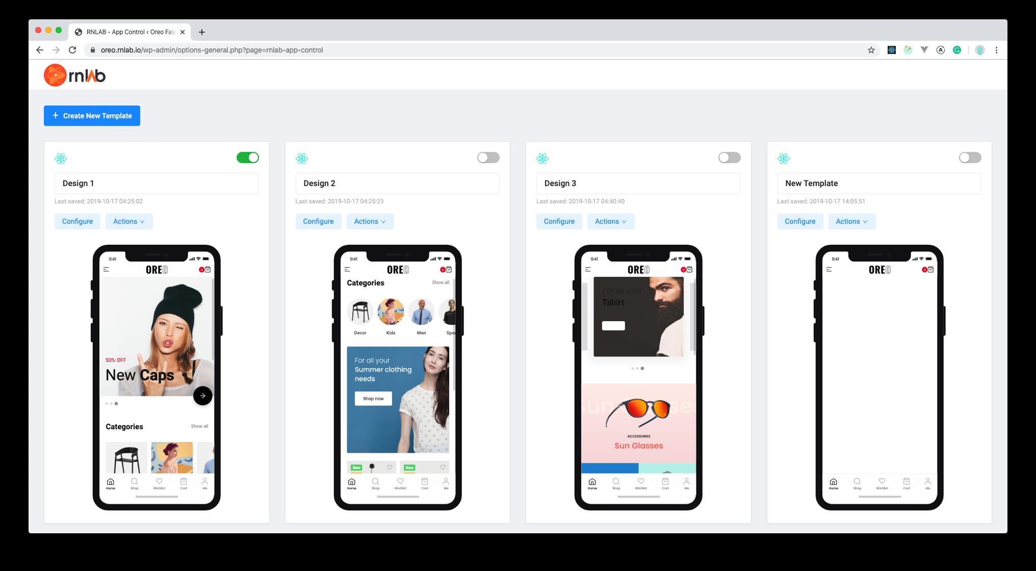 Oreo Fashion Full React Native App For Woocommerce Graphic Design Portfolio Print React Native Woocommerce