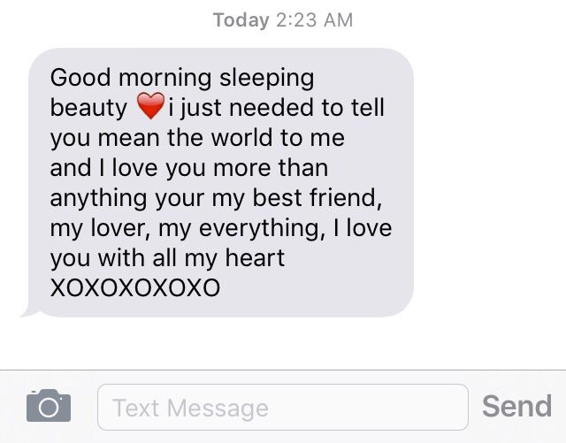 What to say in a goodmorning text to your boyfriend