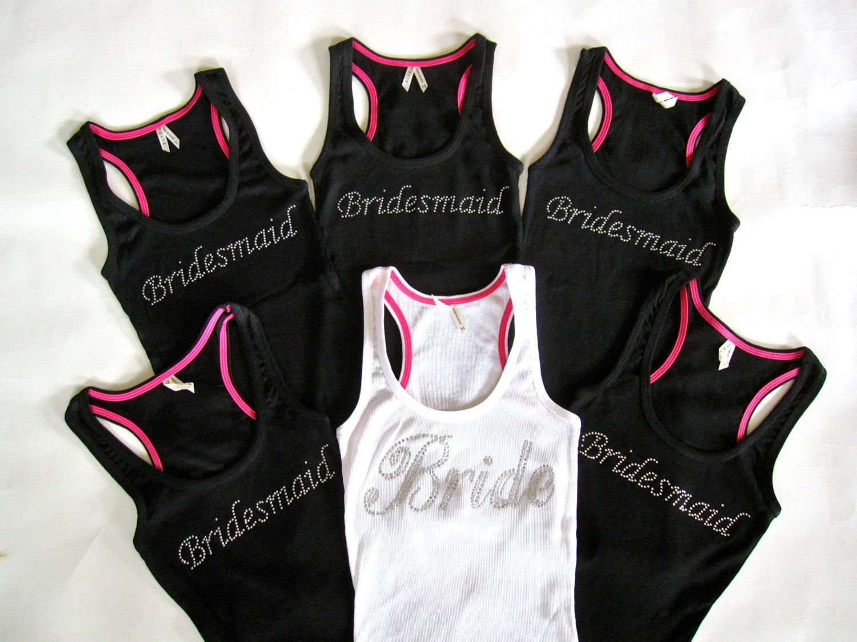 6 Bride Bridesmaid Tank Tops. Bride by TheLittleBridalShop on Etsy ...