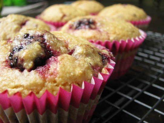Blackberry Coconut & Lime Muffins #glutenfree
