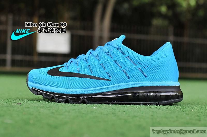 Men's NIKE Air Max 2016 New Shoes Air Running Shoes Cyan Black|only US$88.00 - follow me to pick up couopons.