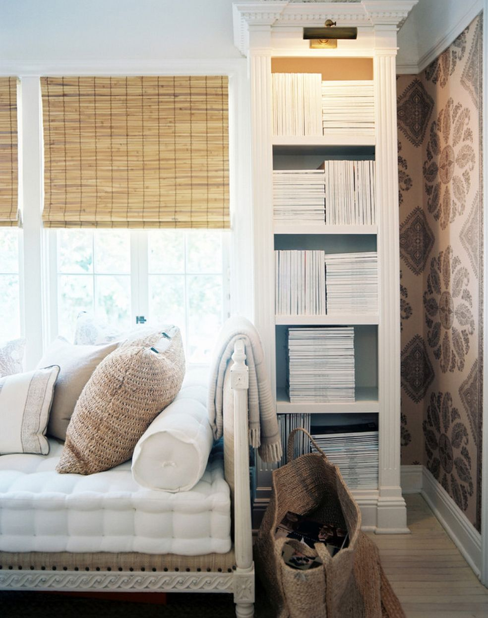 Neutral tones and natural textures make white cozy. #shabbychic ...