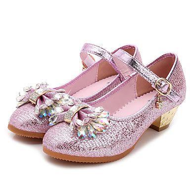 Chaussures Roses Avec Des Enfants À Bout Rond Formel Velcro oK18TRYCF