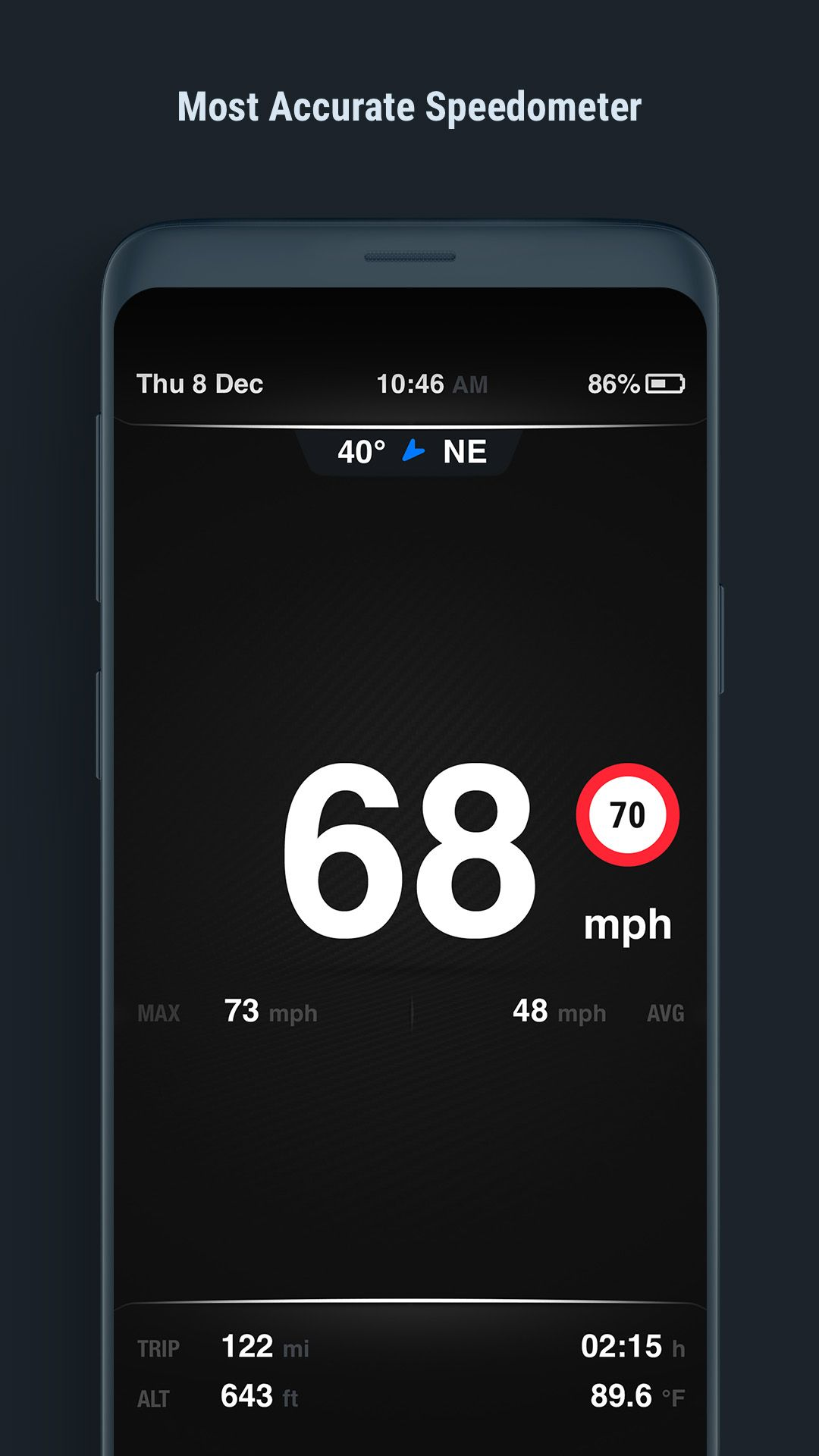 Speedometer. Accurate. Battery efficient. Easy to use