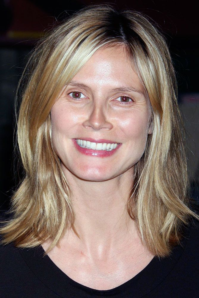Heidi Klum Without Makeup Wow Makeup Definitely Provides A Transformation That S Why Every Woman Can Use A Little Haar Styling Frisuren 2018 Haarschonheit