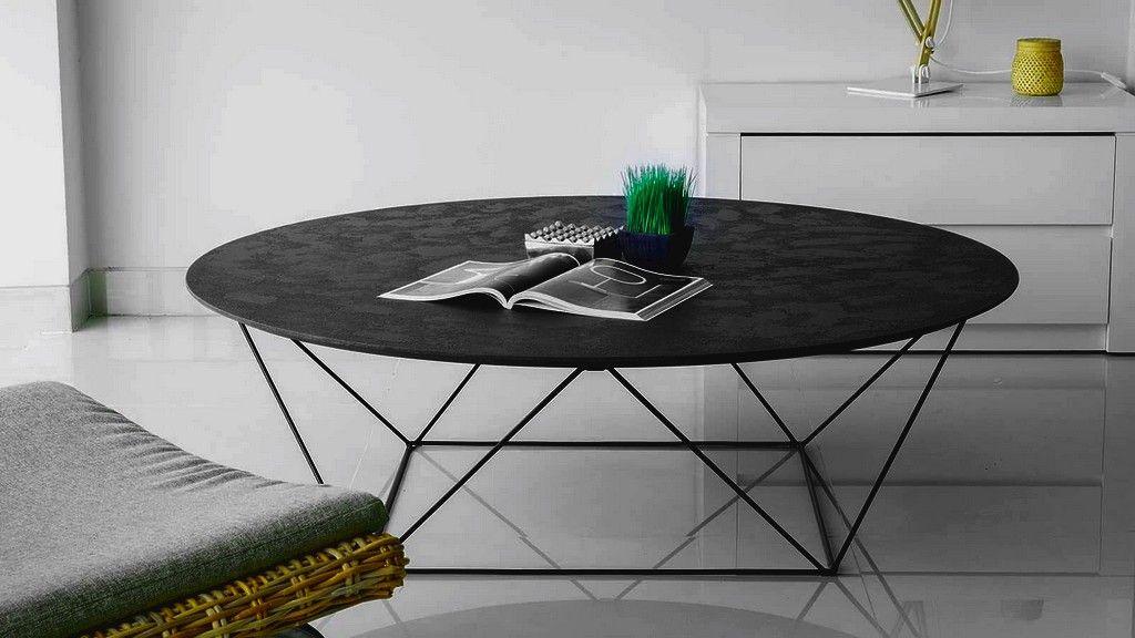 Table Basse Design Ronde En Metal Pietement Au Style Graphique Collection Hoeganaes Di 2020