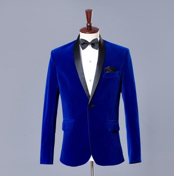 4adb8f003640 Blazer men formal dress latest coat pant designs suit men blue ...
