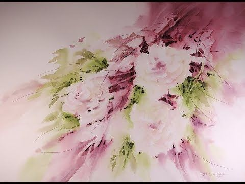 Quot Floral Blush Quot Transparent Watercolor Flower Painting