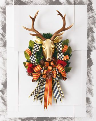 Stag Deer Head Wreath