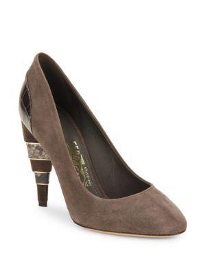 SALVATORE FERRAGAMO Like Leather Stiletto Pumps. #salvatoreferragamo #shoes #pumps