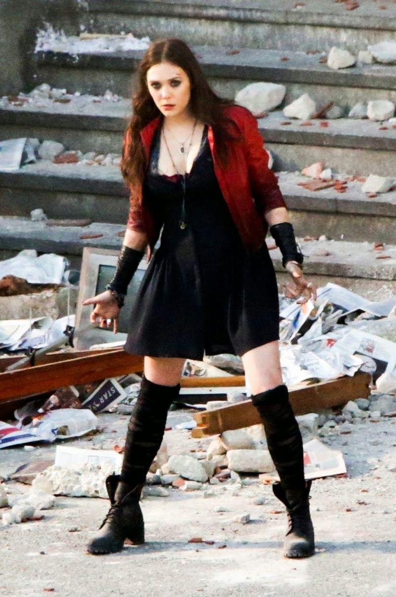 La Bruja Escarlata Elizabeth Olsen Scarlet Witch Costume Scarlet Witch Cosplay Elizabeth Olsen Scarlet Witch