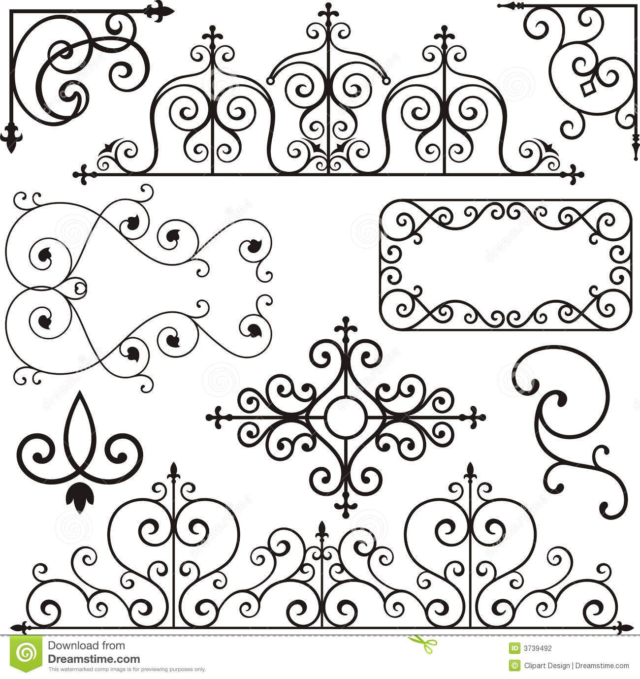 Wrough Iron Ornaments Stock Photography Image 3739492 Wrought Iron Sign Iron Decor Wrought Iron Design