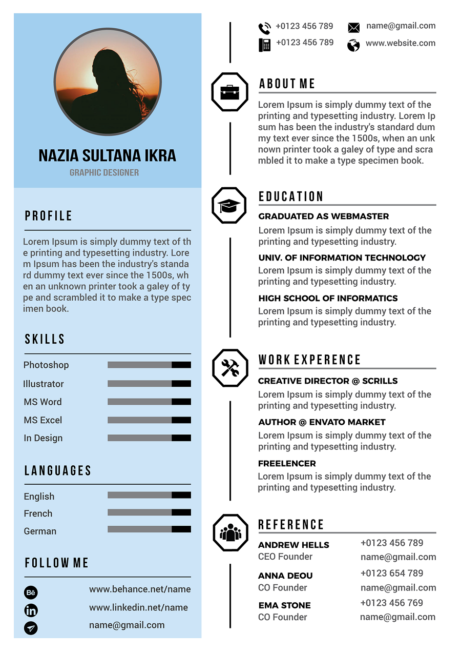34 Best Modern Design Resume Templates Simplefreethemes Resume Design Resume Templates Resume