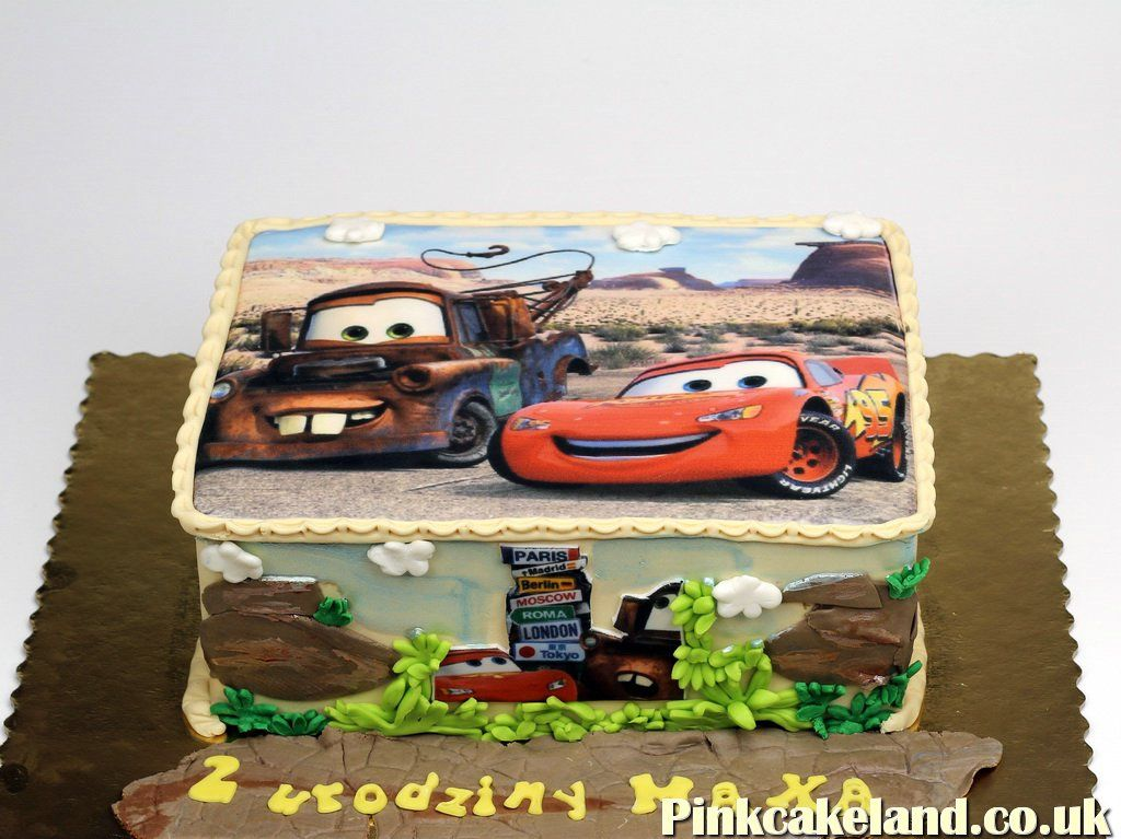 Lightning McQueen Photo Cake London httpwwwpinkcakelandcouk