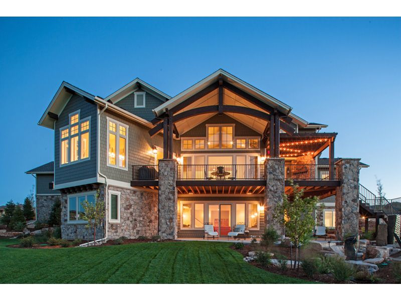 Eagle Point Luxury Home Traditional House Plans Lake House Plans Luxury House Plans