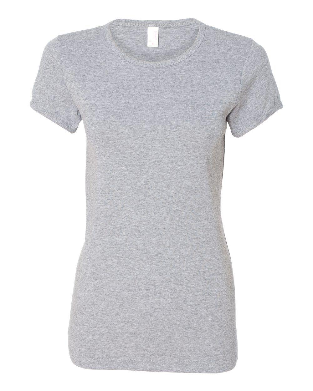 anvil heather grey ladies 11 rib cap sleeve scoopneck t shirt 1441 free shipping activewear. Black Bedroom Furniture Sets. Home Design Ideas