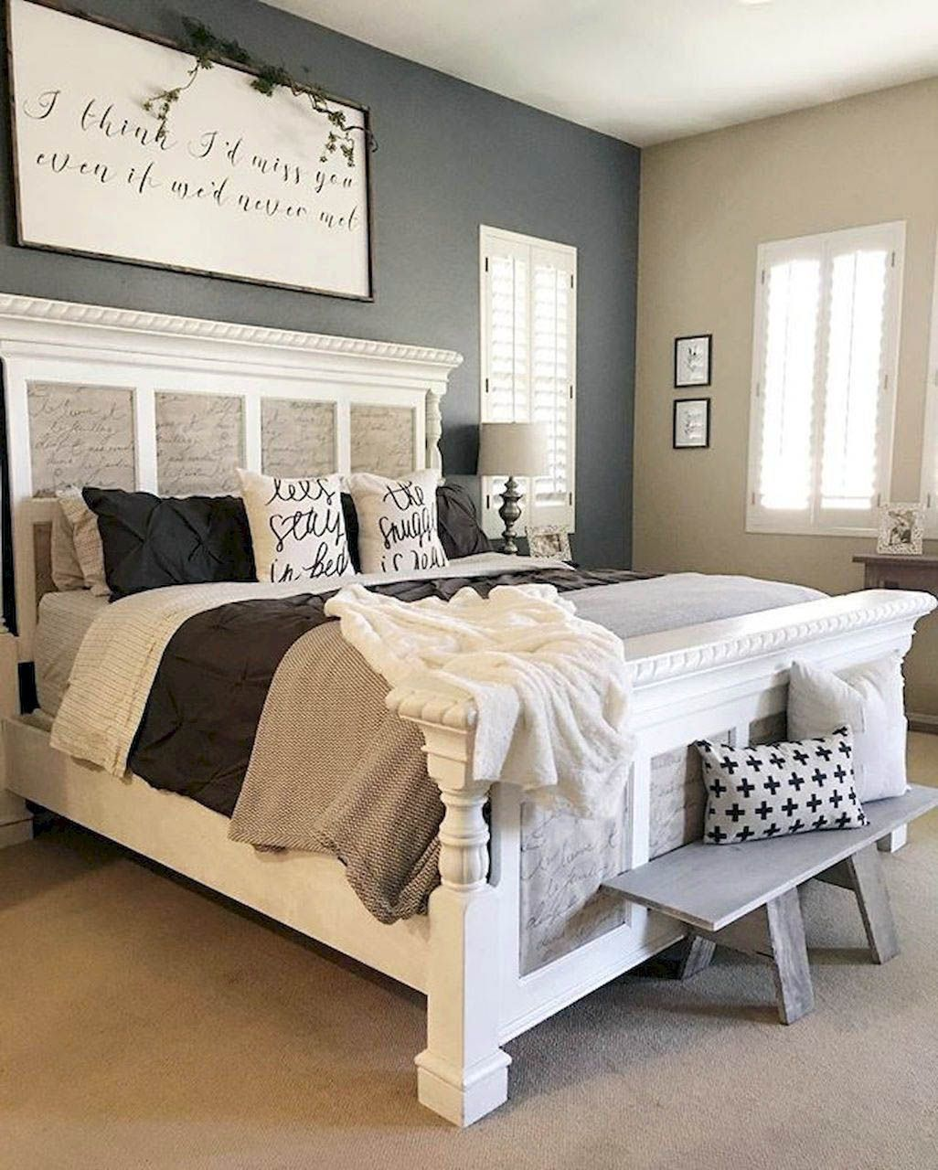 Cute Best Bedroom Decorating Ideas For 2019 Modern Farmhouse Master Bedroom Master Bedroom Remodel Remodel Bedroom