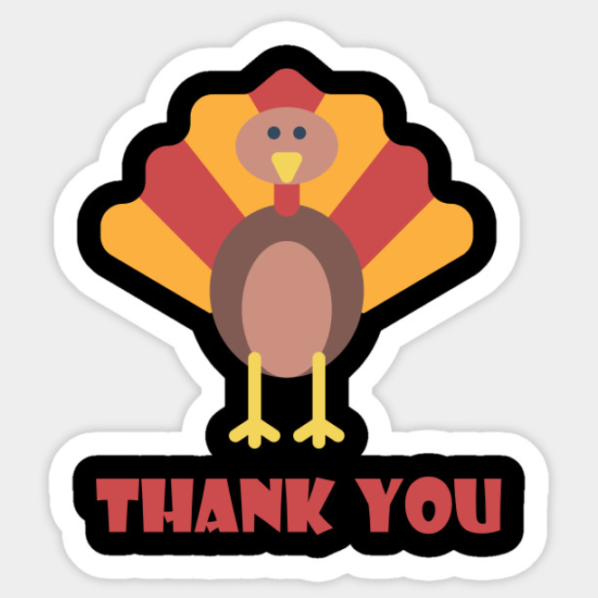 Thanksgiving Thank You Sticker