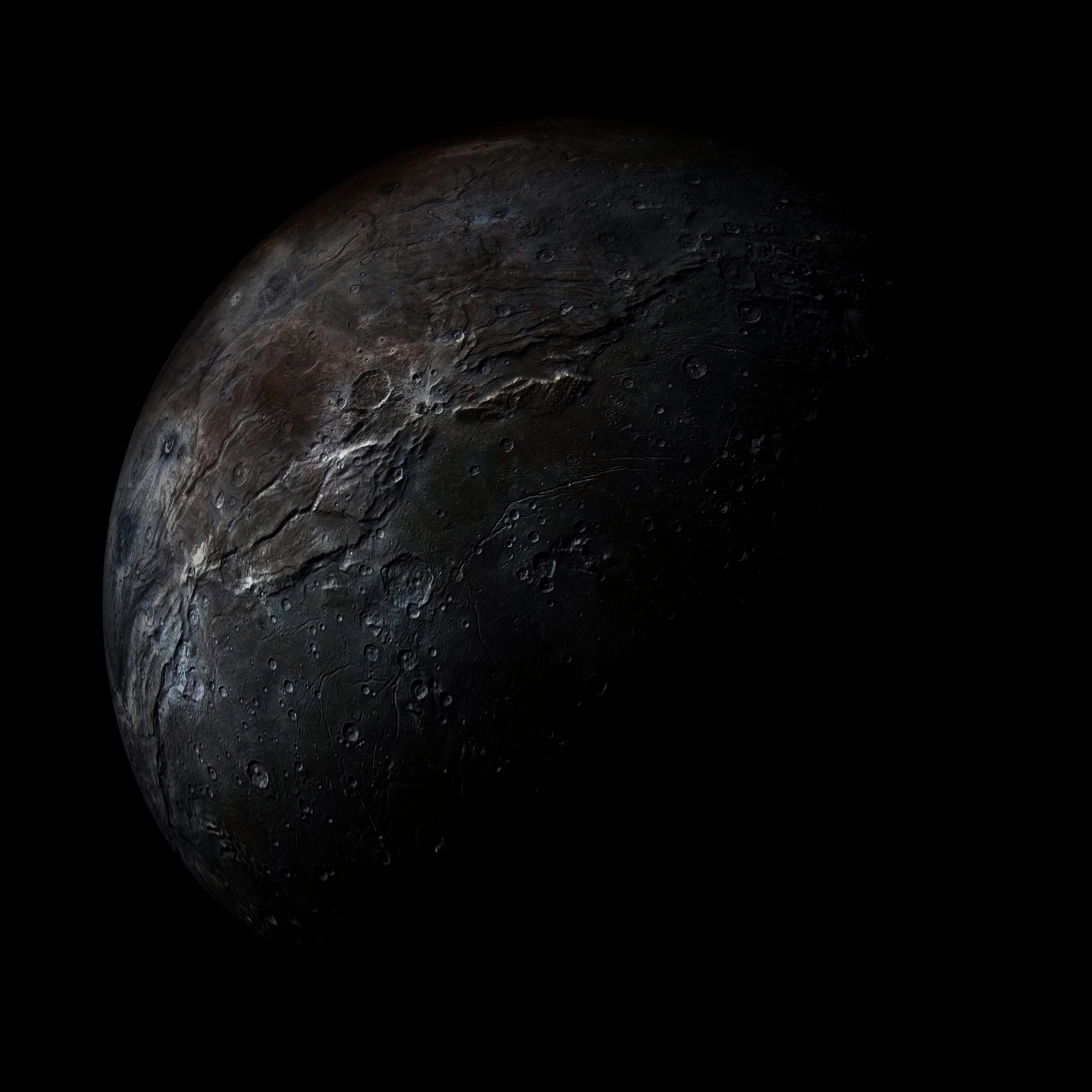 Your Place  Spaceporn  Space On Your Face In Your Place Plutos moon Charon It has half the diameter of Pluto and is so large that the two bodies orbit a point between the...