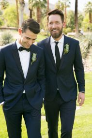 This wedding made history — not for being the chicest, though it certainly could, but for being the first same sex wedding at Thunderbird Country Club.