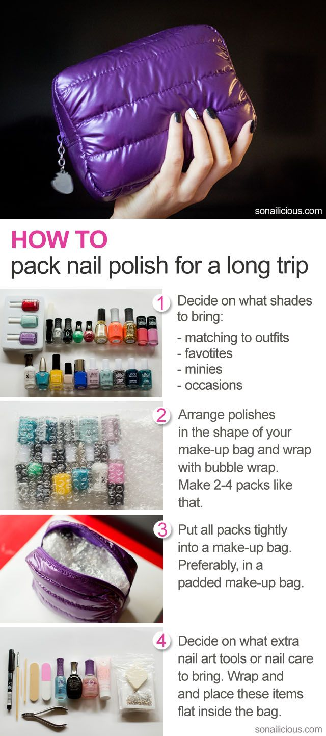 How to pack nail polish for a long trip