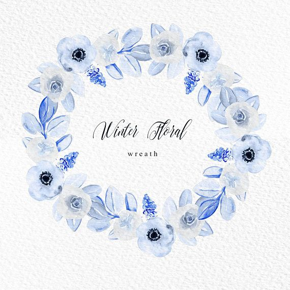 Pin By Studiorachid On Watercolor Flower Clipart Wedding Diy Floral Wreath Watercolor Watercolor Flower Wreath Flower Clipart