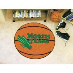 "North Texas Mean Green Basketball Rug 29"" Diameter"