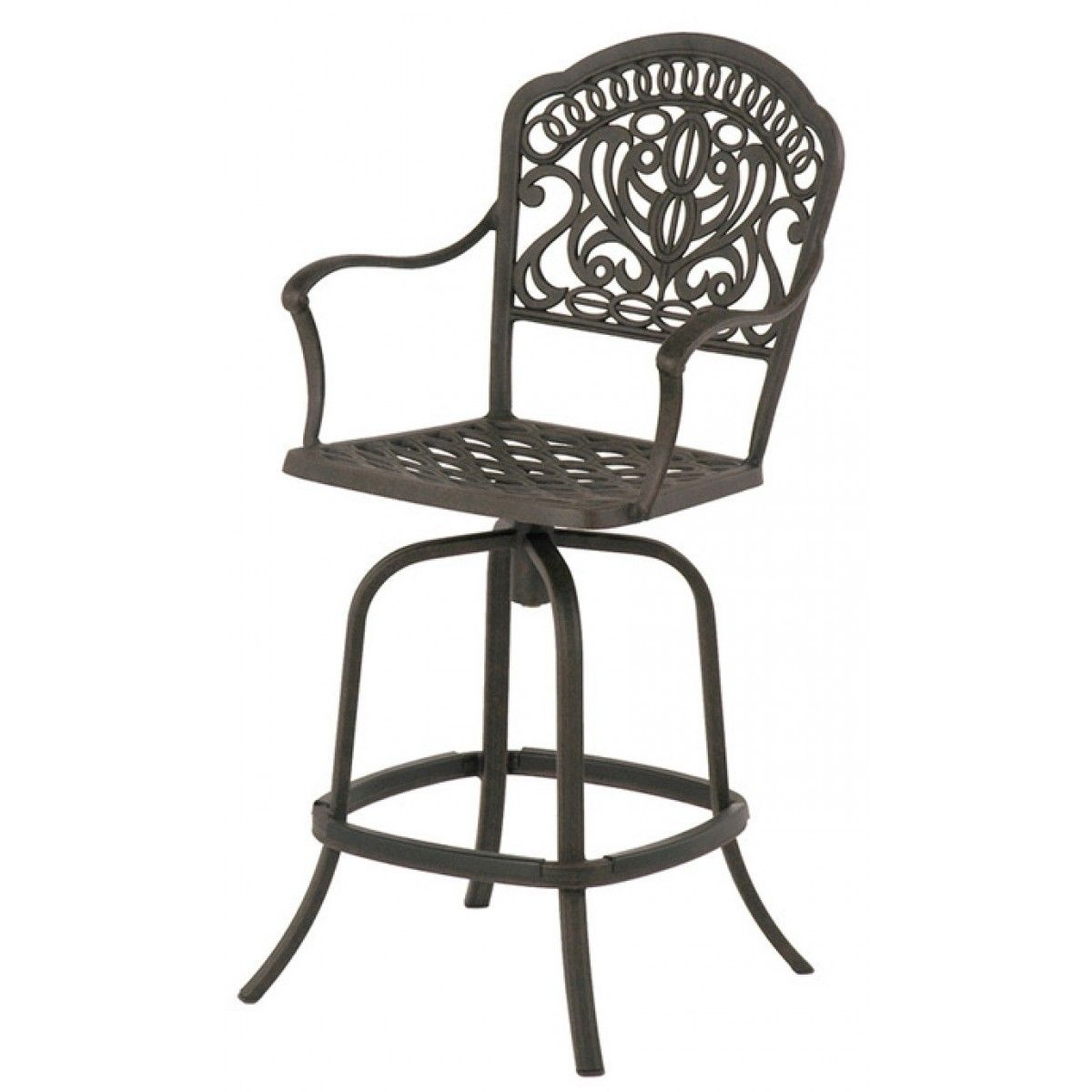 Groovy Hanamint Tuscany Cast Aluminum Swivel Counter Stool Shown In Bralicious Painted Fabric Chair Ideas Braliciousco