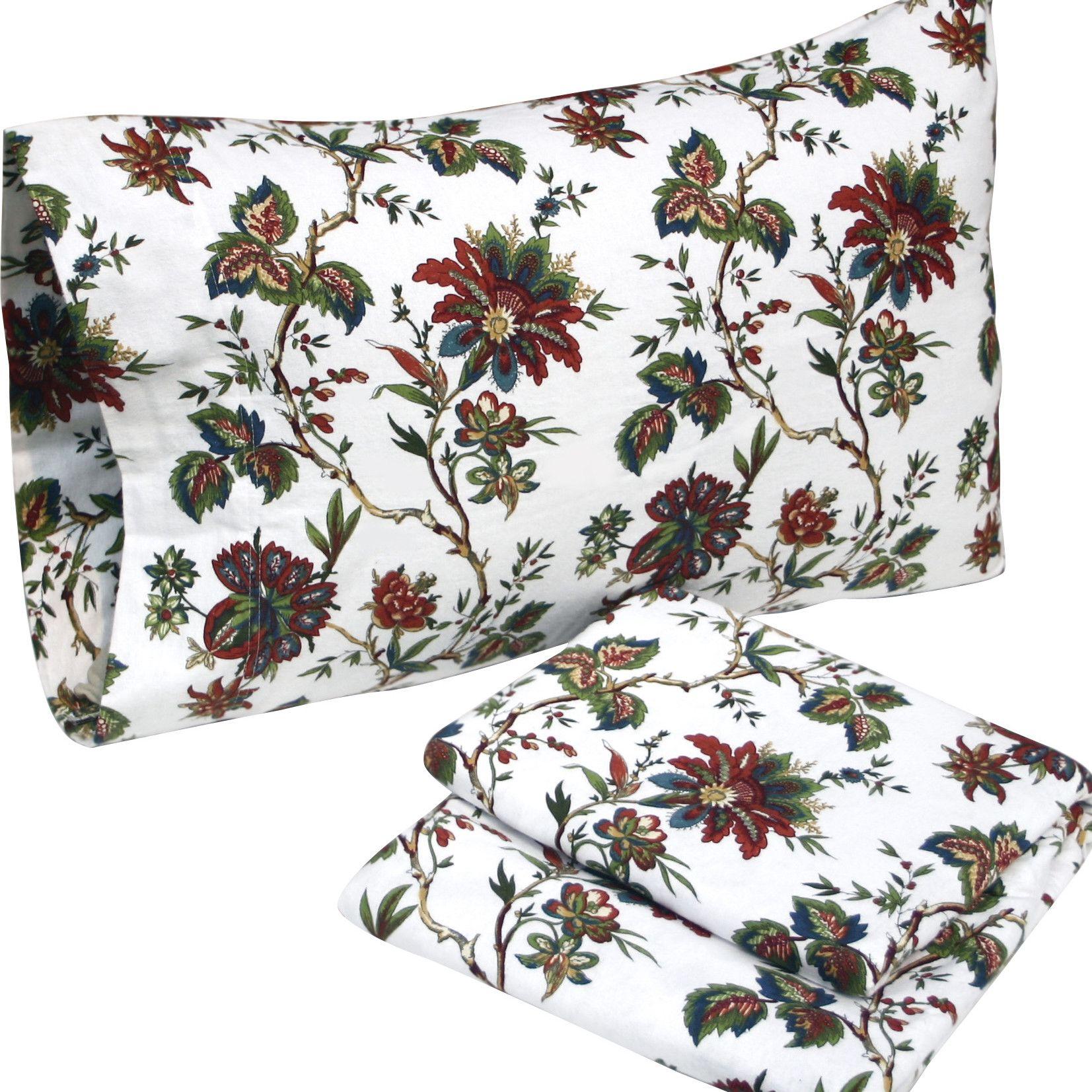Rainforest Cotton Flannel Sheet Set