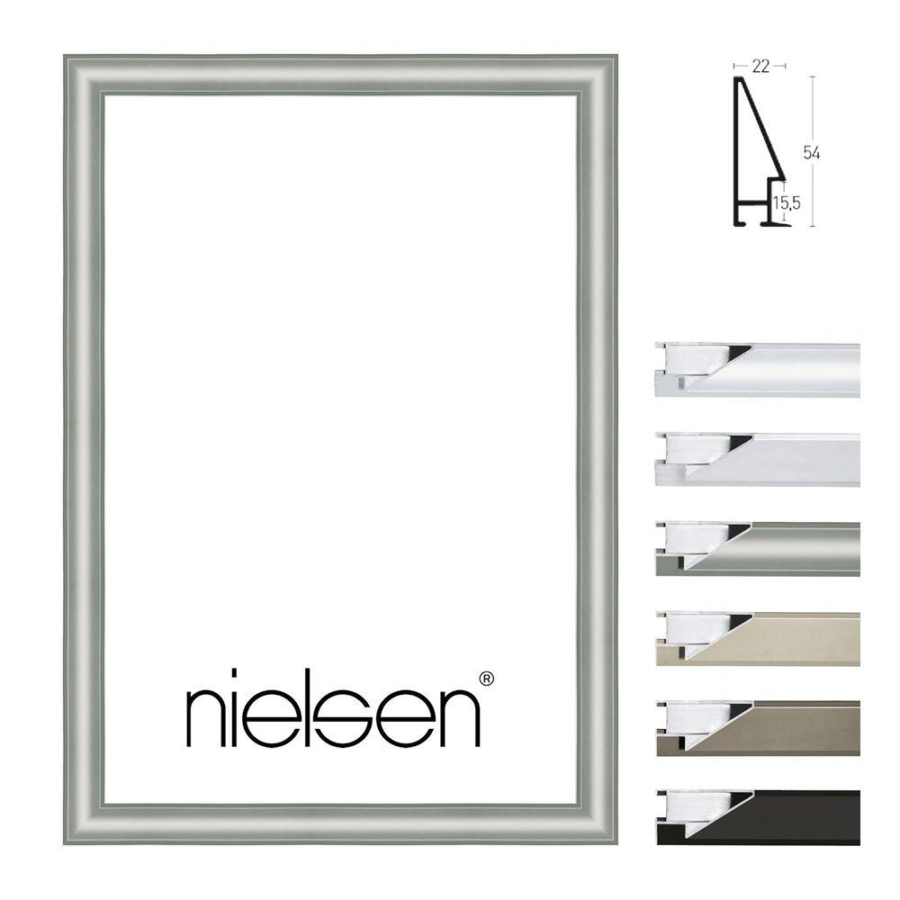 Nielsen Alurahmen Profil 56 50×70 Silber matt