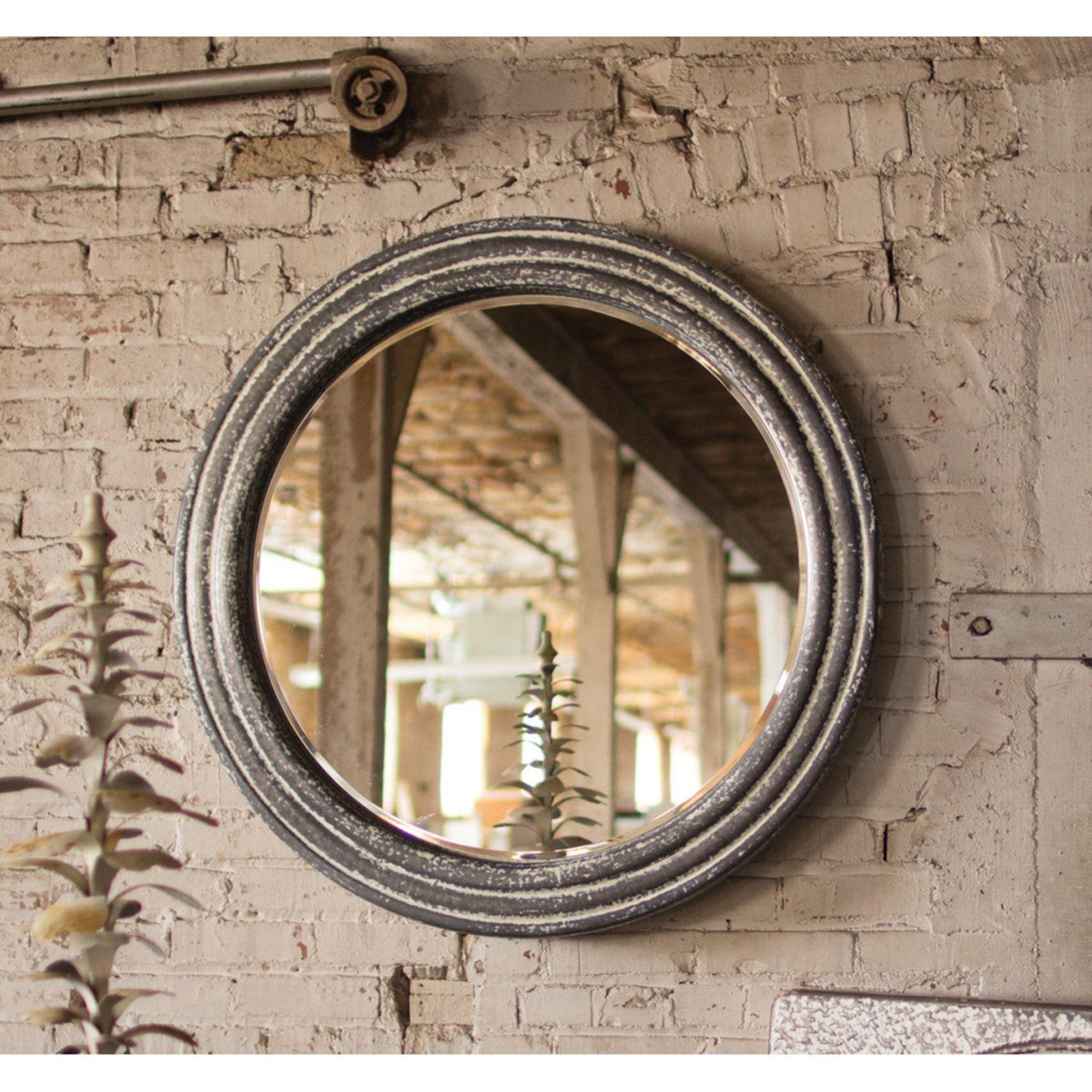 Farmhouse chic round mirror accent mirrors metal mirror